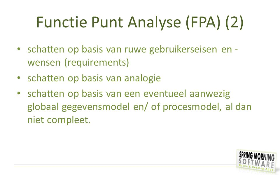 Functie Punt Analyse (FPA) (2)