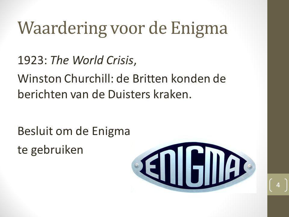Waardering voor de Enigma