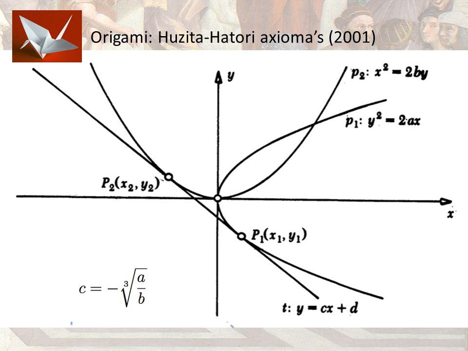Origami: Huzita-Hatori axioma's (2001)