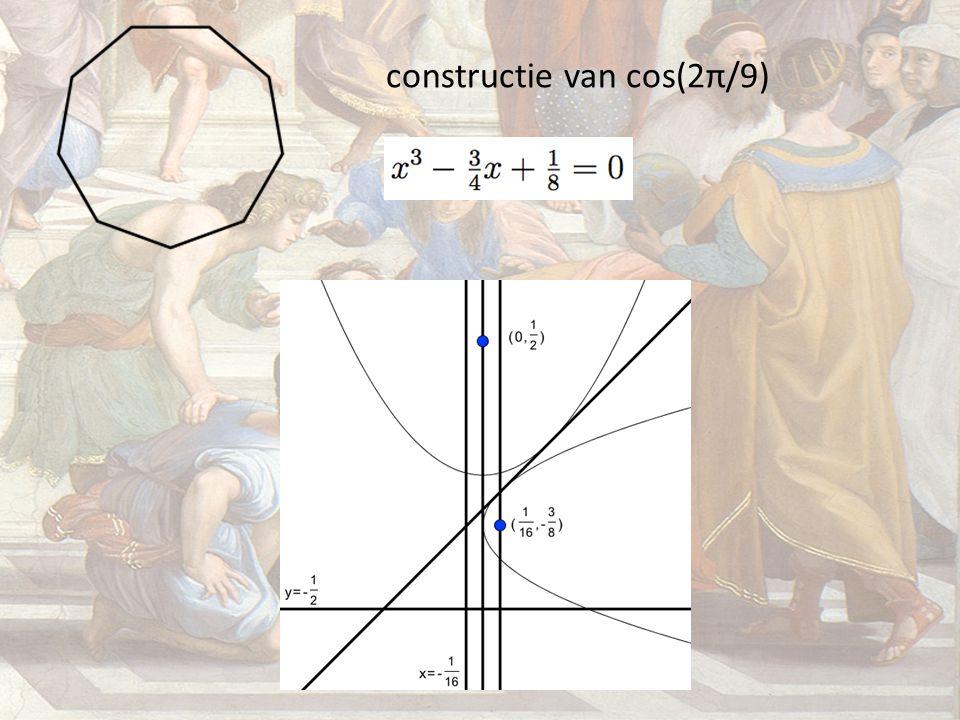 constructie van cos(2π/9)