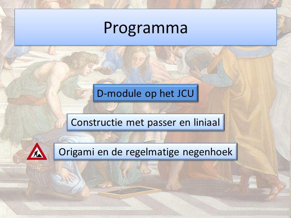 Programma D-module op het JCU D-module op het JCU