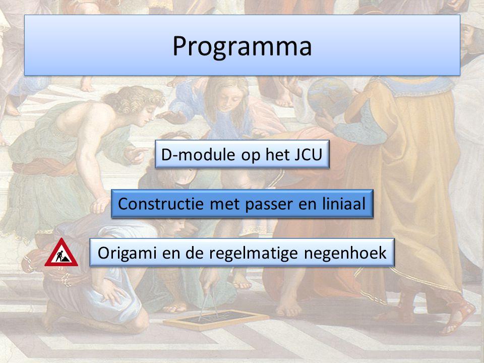 Programma D-module op het JCU Constructie met passer en liniaal