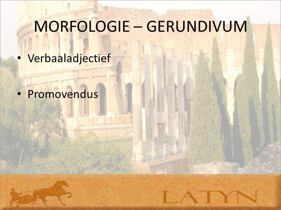 MORFOLOGIE – GERUNDIVUM