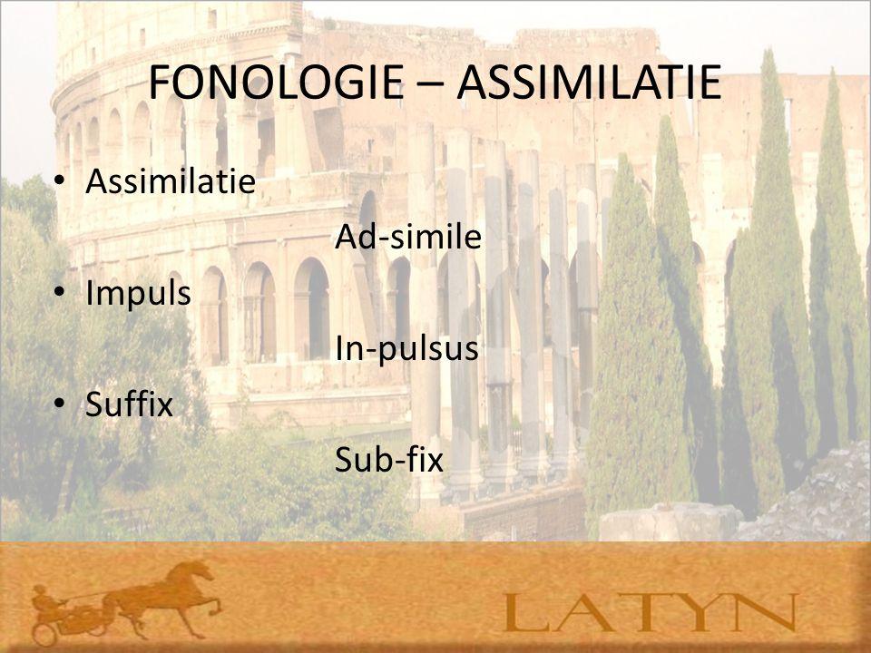 FONOLOGIE – ASSIMILATIE