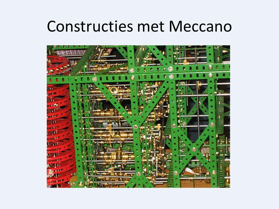 Constructies met Meccano