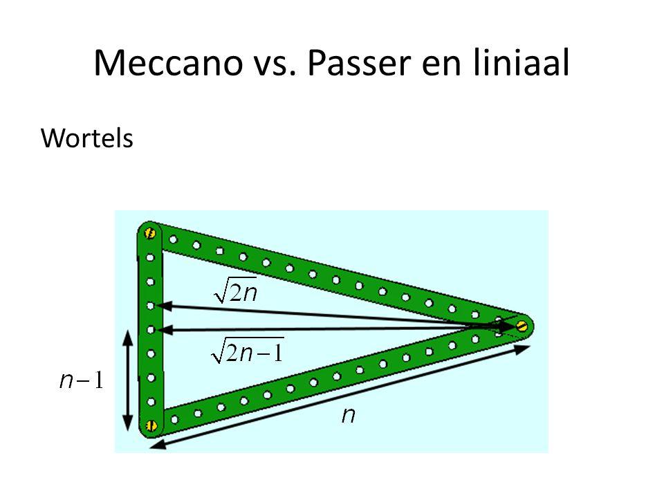 Meccano vs. Passer en liniaal