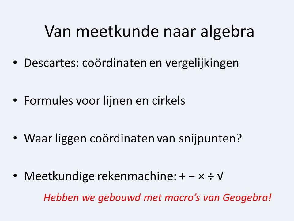 Van meetkunde naar algebra