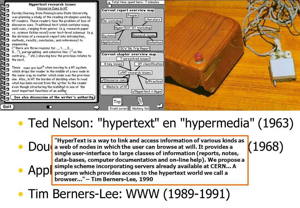 Hypertext Tekst met (actieve) referenties