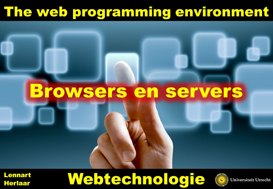 The web programming environment