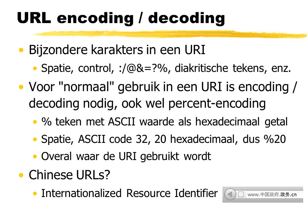 URL encoding / decoding