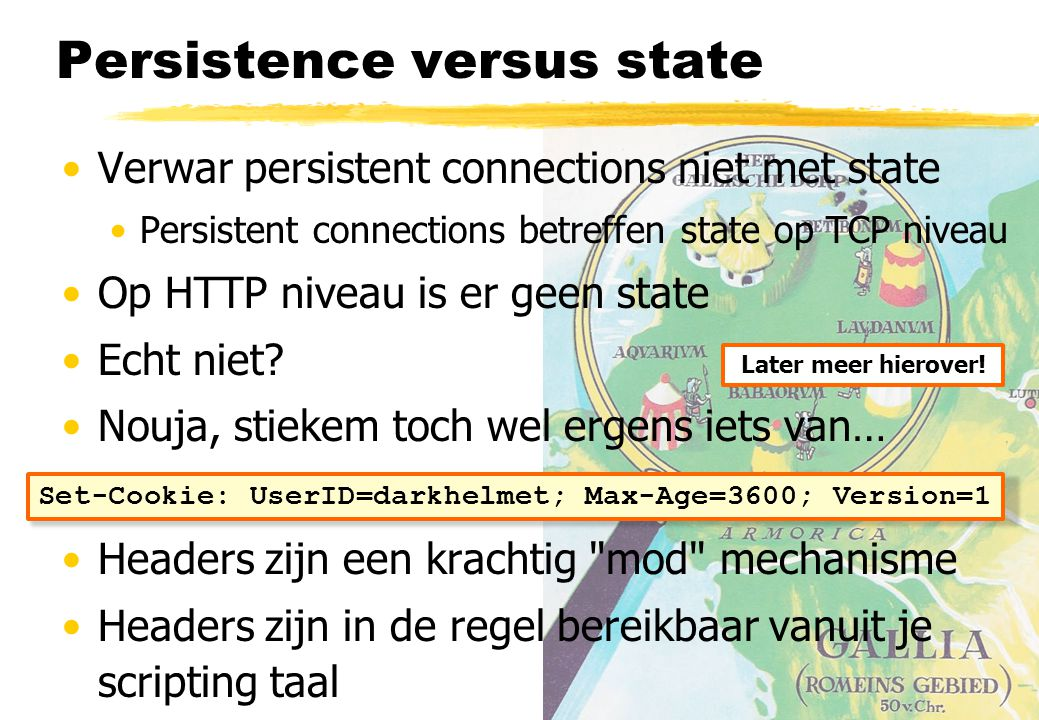 Persistence versus state
