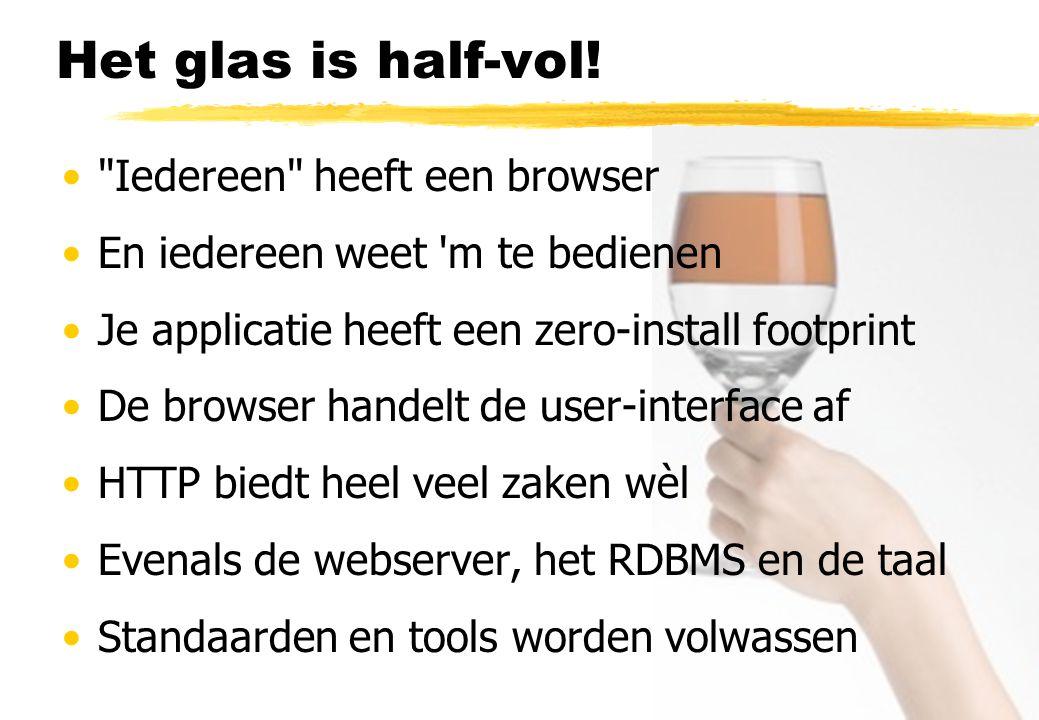 Het glas is half-vol! Iedereen heeft een browser