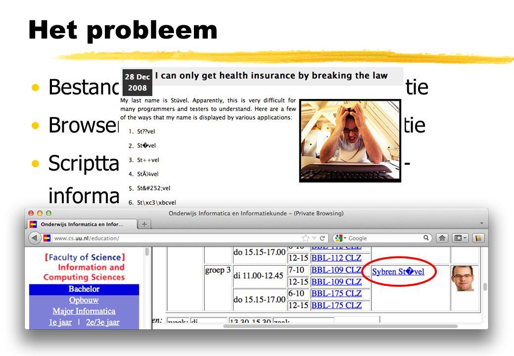Het probleem Bestandsformaat versus meta-informatie