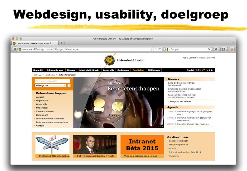 Webdesign, usability, doelgroep