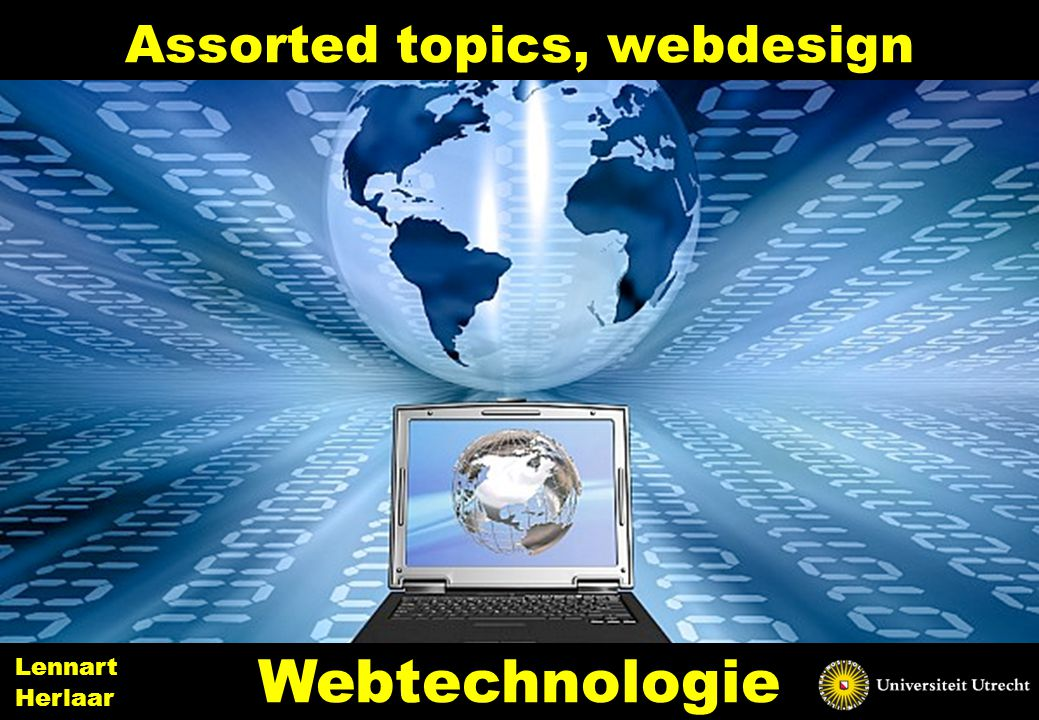 Assorted topics, webdesign