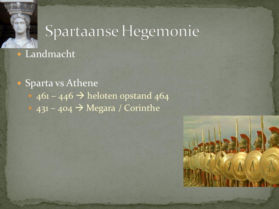 Spartaanse Hegemonie Landmacht Sparta vs Athene