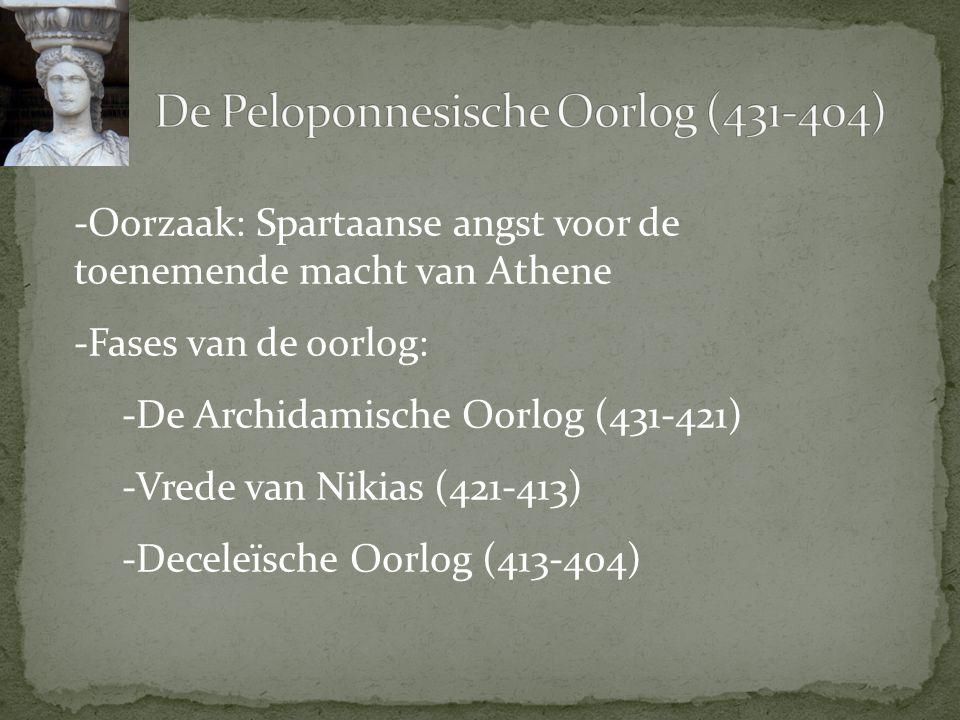 De Peloponnesische Oorlog (431-404)