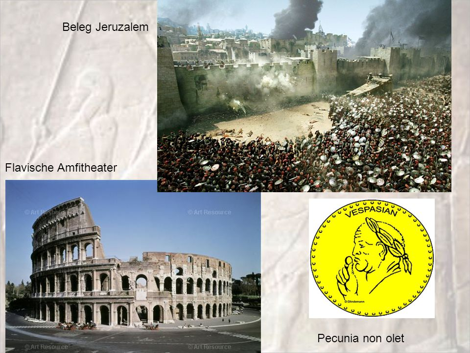 Beleg Jeruzalem Flavische Amfitheater Pecunia non olet