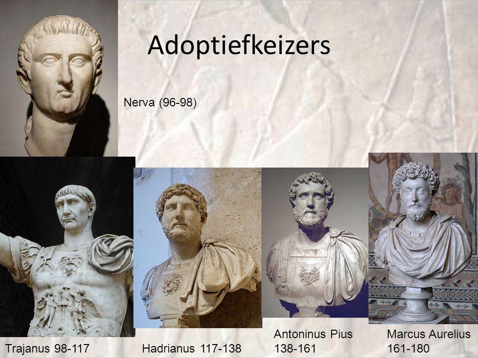 Adoptiefkeizers Nerva (96-98) Antoninus Pius 138-161