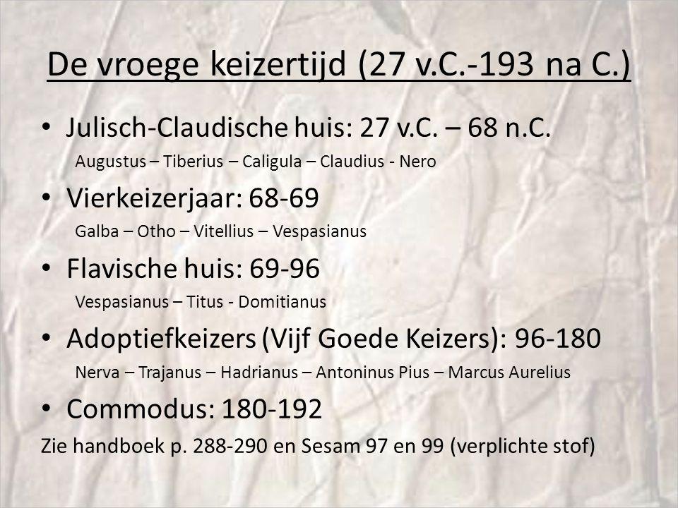 De vroege keizertijd (27 v.C.-193 na C.)