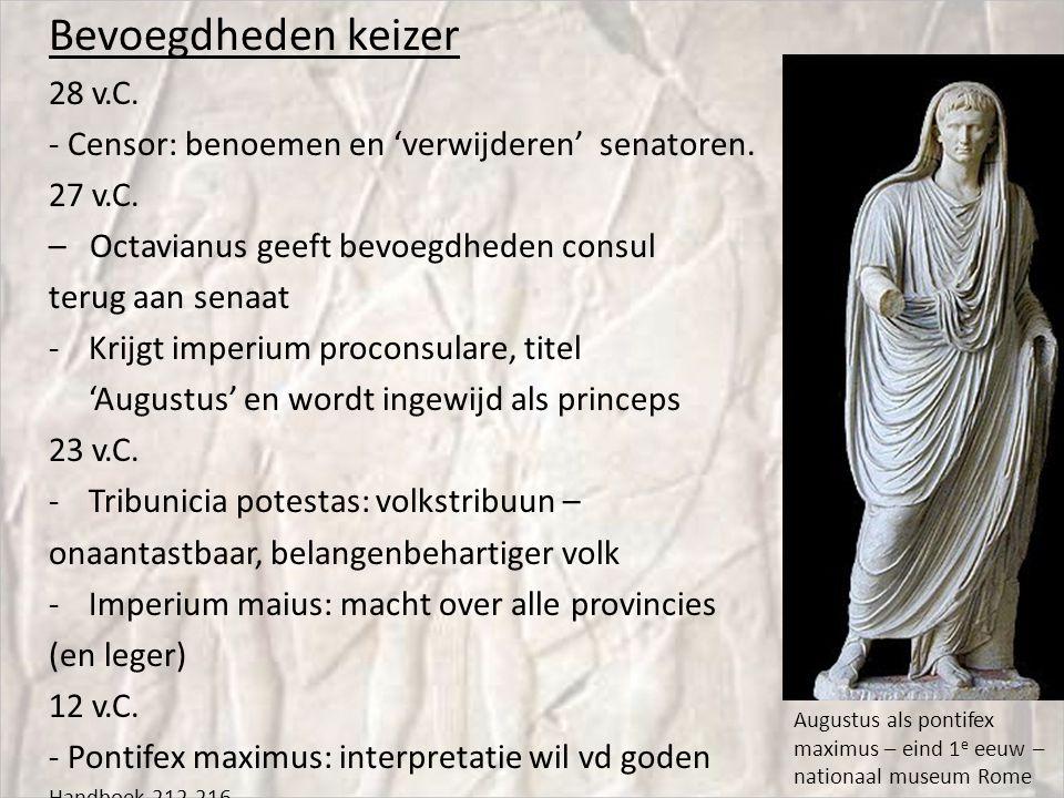 Bevoegdheden keizer 28 v.C.