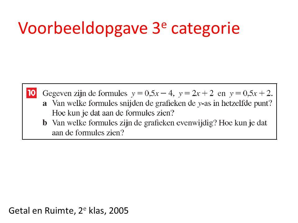 Voorbeeldopgave 3e categorie