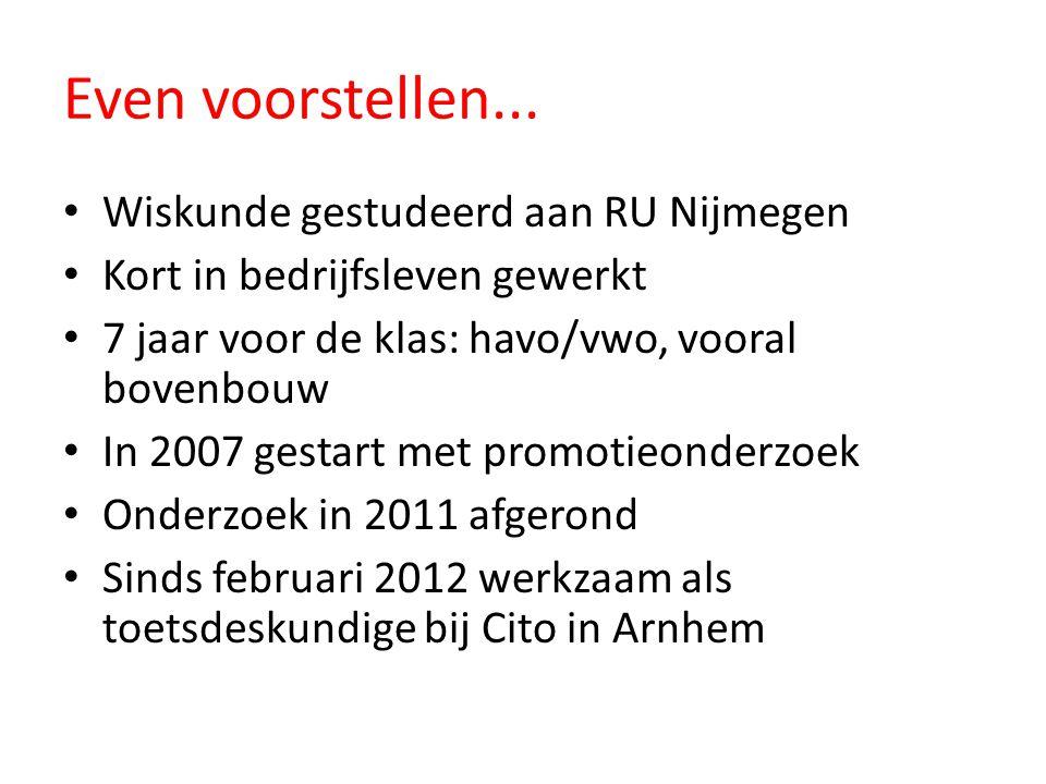Even voorstellen... Wiskunde gestudeerd aan RU Nijmegen