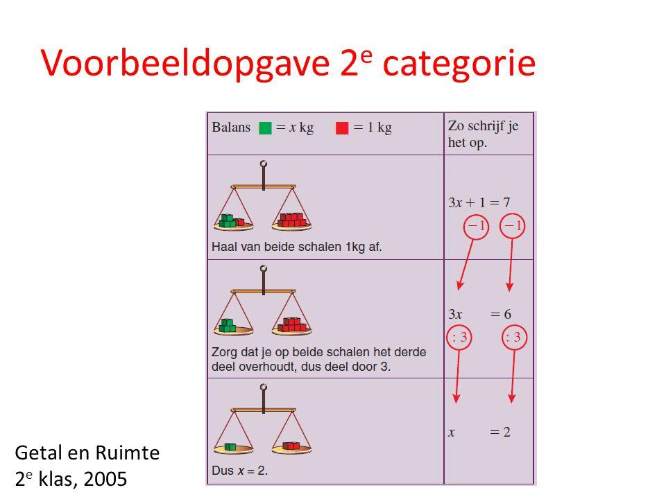 Voorbeeldopgave 2e categorie