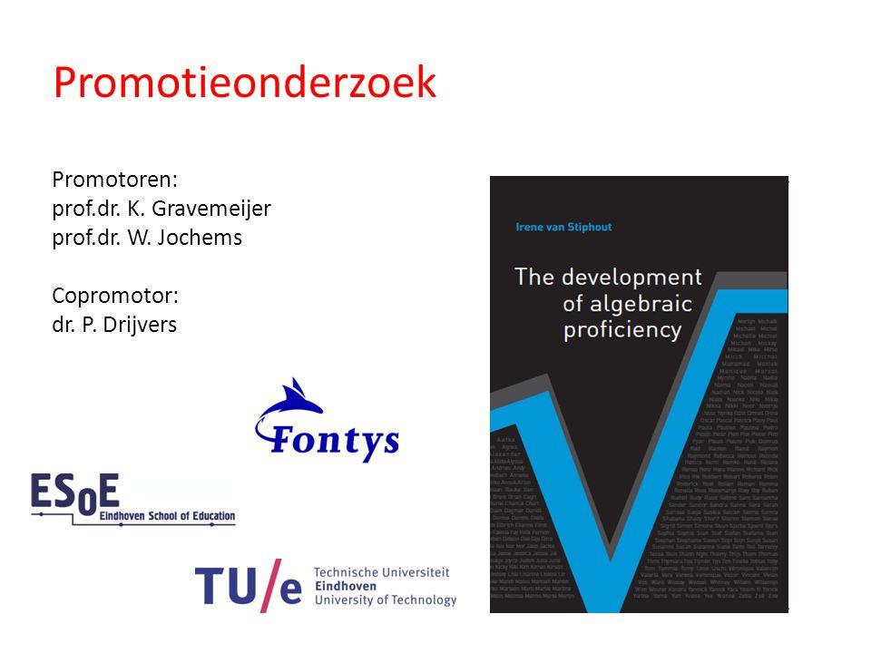 Promotieonderzoek Promotoren: prof.dr. K. Gravemeijer