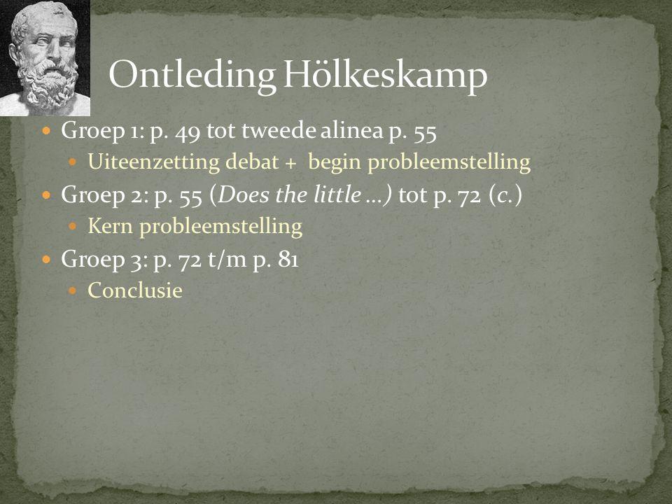 Ontleding Hölkeskamp Groep 1: p. 49 tot tweede alinea p. 55