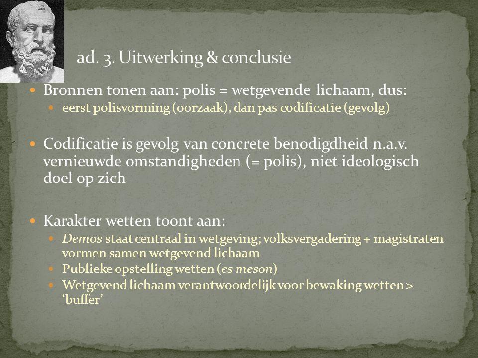 ad. 3. Uitwerking & conclusie