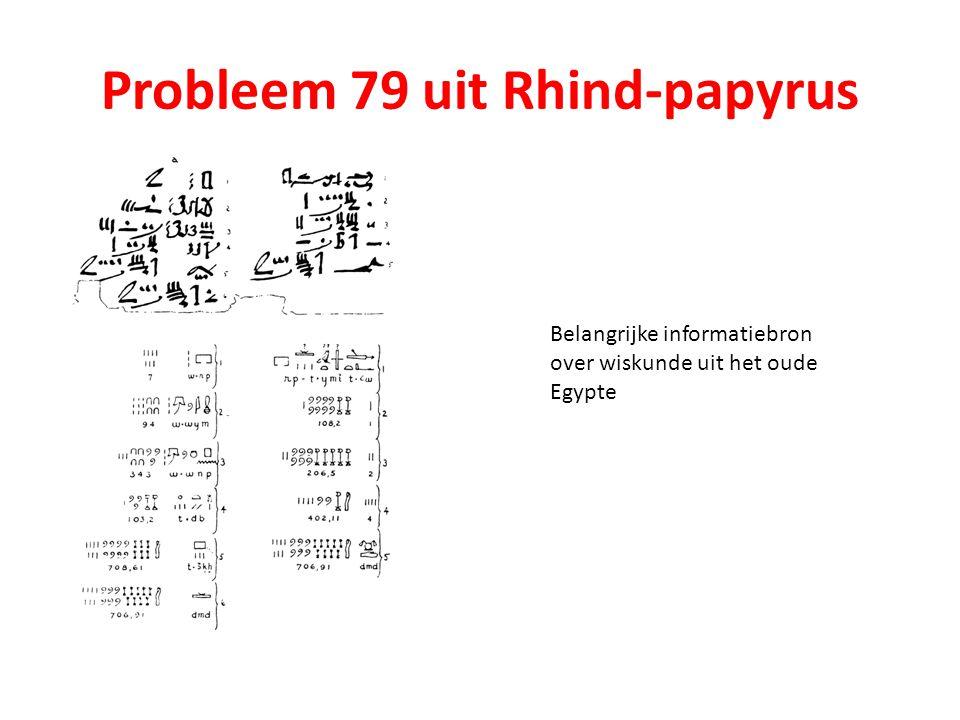 Probleem 79 uit Rhind-papyrus