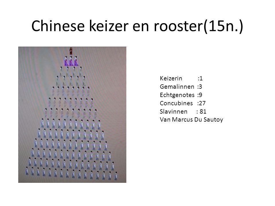 Chinese keizer en rooster(15n.)