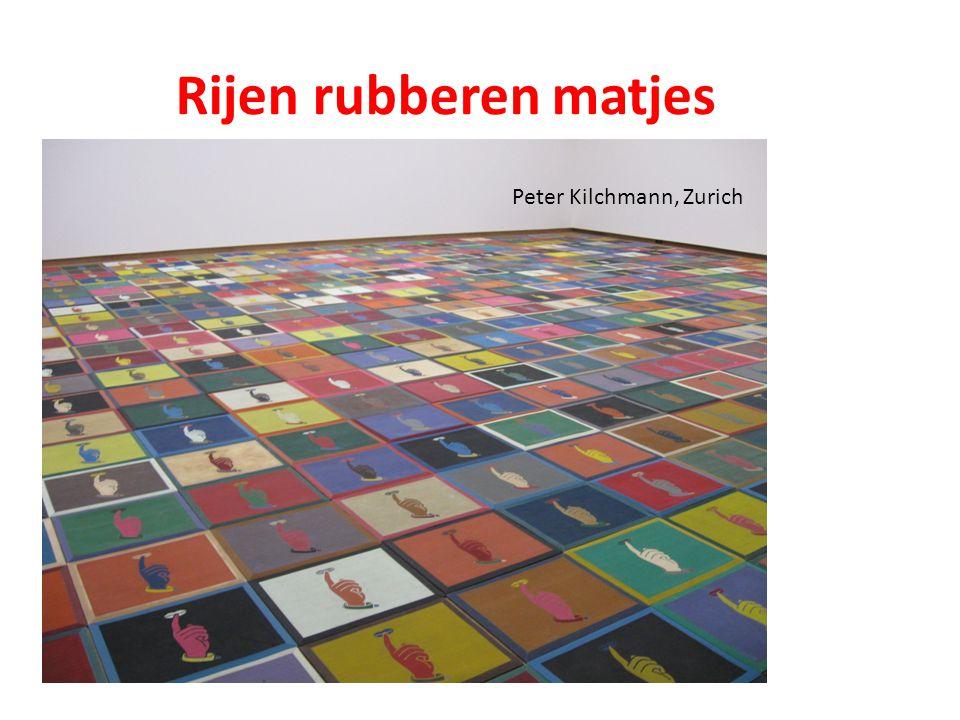 Rijen rubberen matjes Peter Kilchmann, Zurich