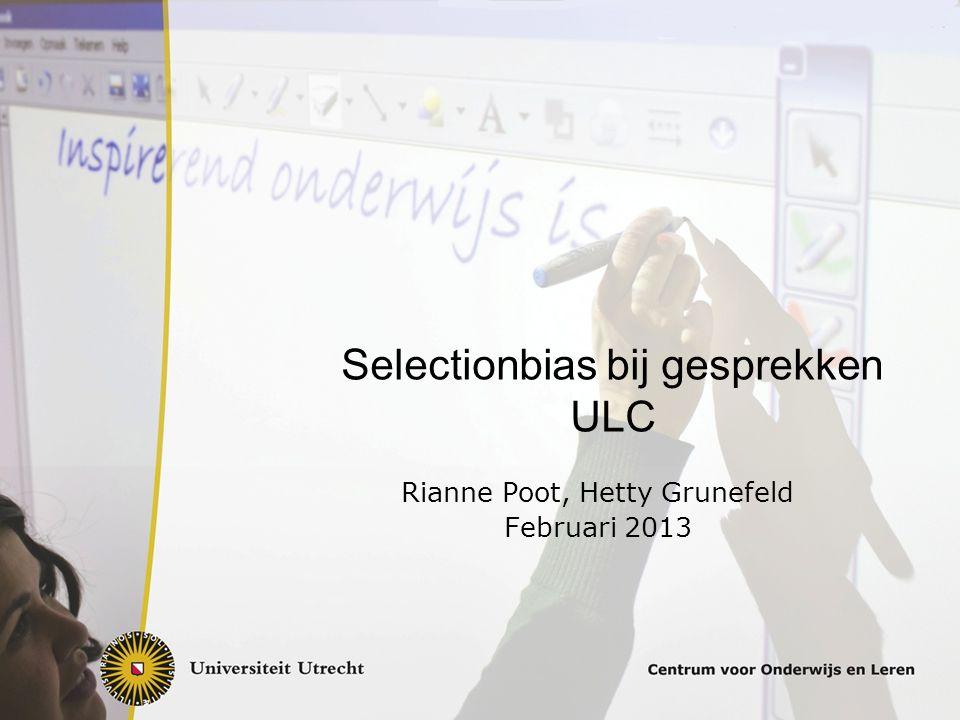 Selectionbias bij gesprekken ULC