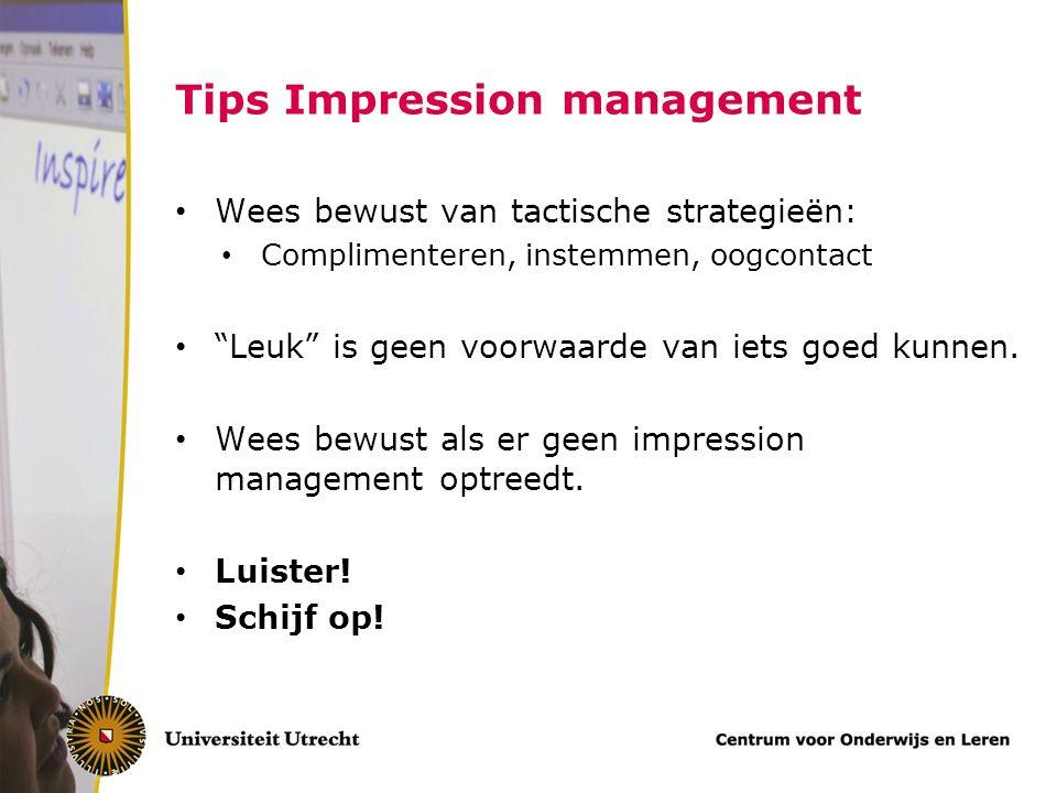 Tips Impression management