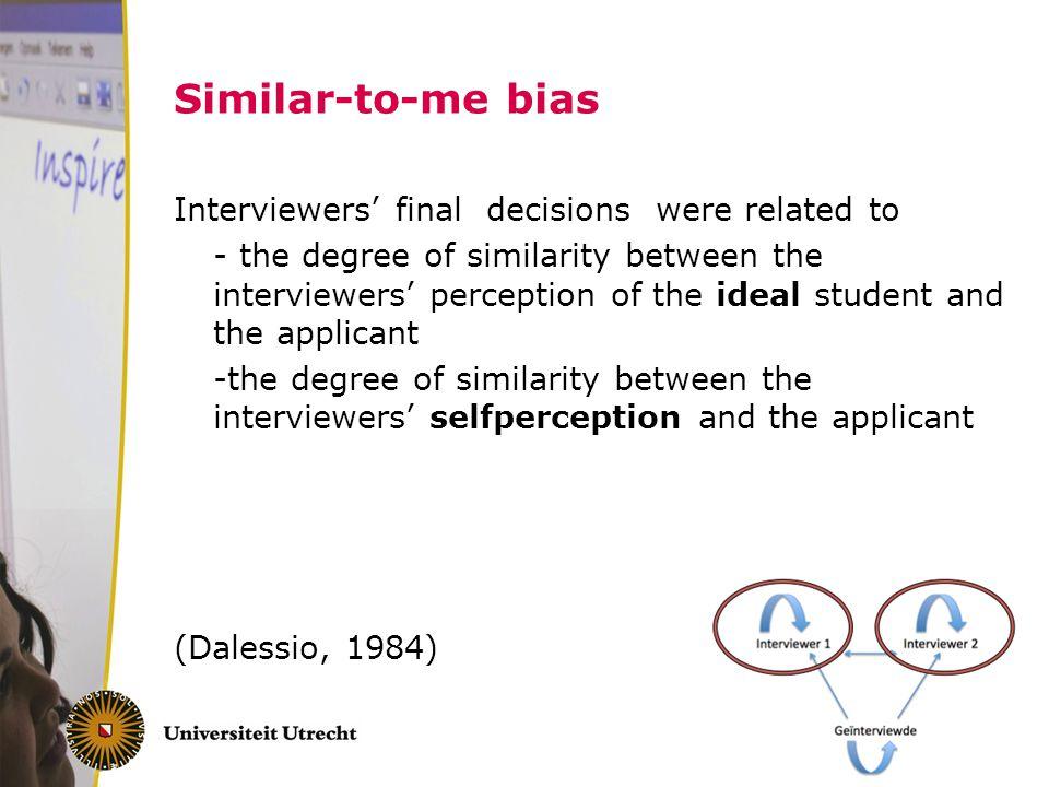 Similar-to-me bias