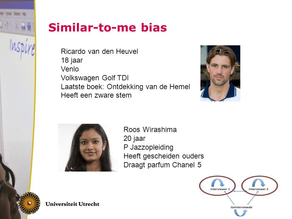 Similar-to-me bias Ricardo van den Heuvel 18 jaar Venlo Volkswagen Golf TDI Laatste boek: Ontdekking van de Hemel.