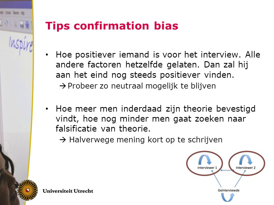 Tips confirmation bias