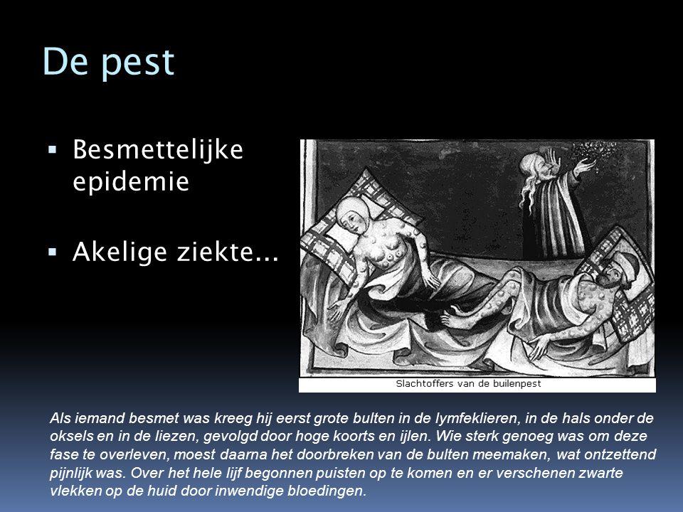 De pest Besmettelijke epidemie Akelige ziekte...