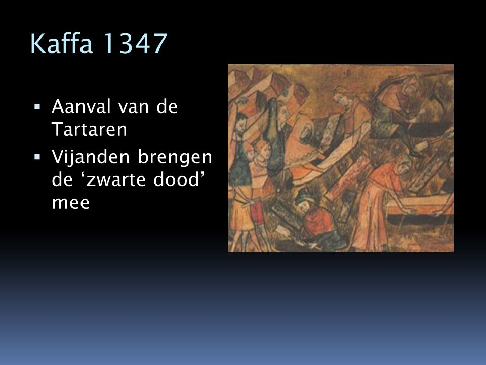 Kaffa 1347 Aanval van de Tartaren