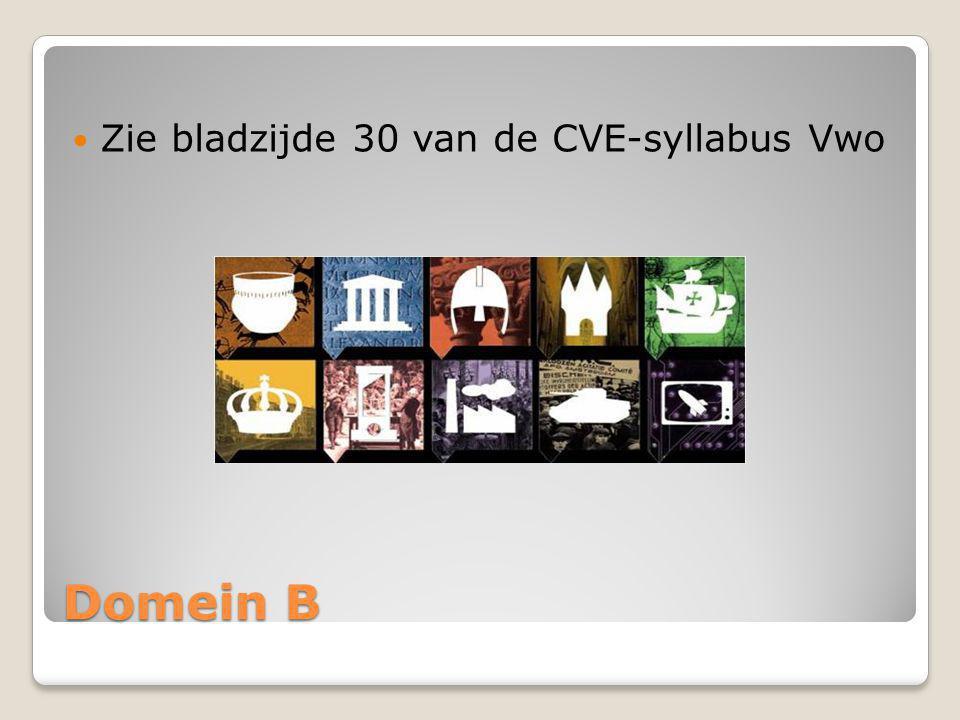 Zie bladzijde 30 van de CVE-syllabus Vwo