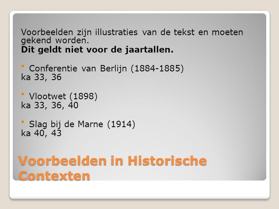 Voorbeelden in Historische Contexten