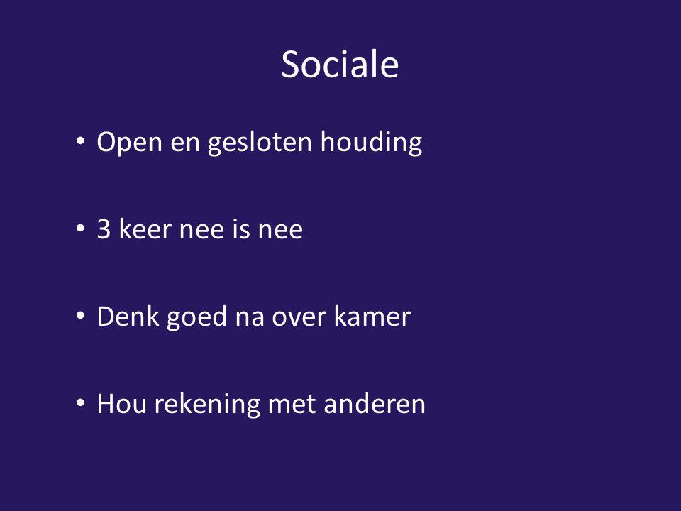 Sociale Open en gesloten houding 3 keer nee is nee