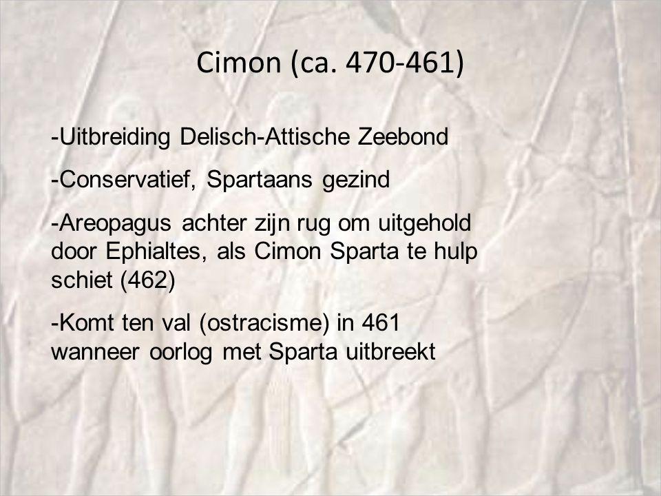 Cimon (ca. 470-461) Uitbreiding Delisch-Attische Zeebond