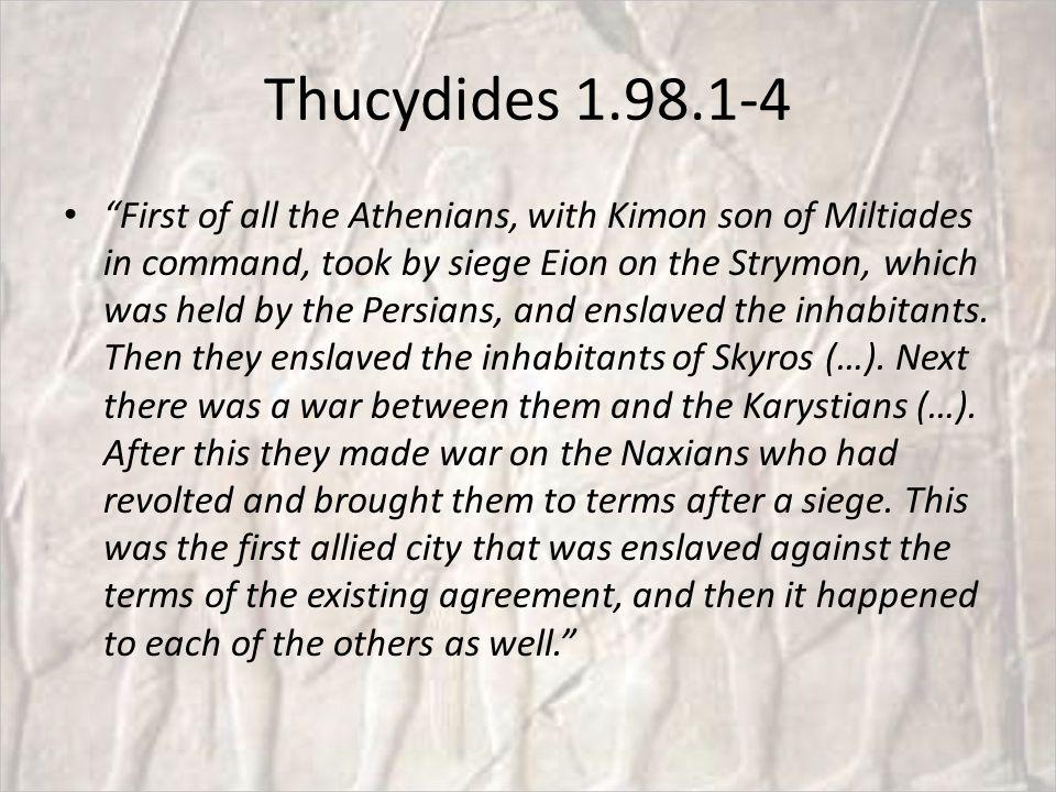 Thucydides 1.98.1-4