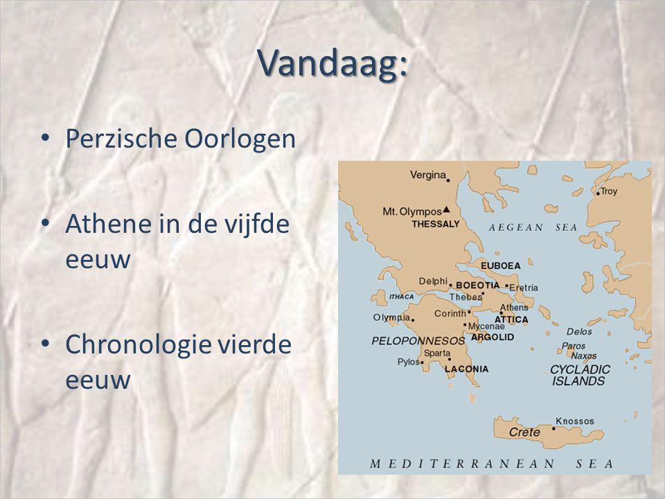 Vandaag: Perzische Oorlogen Athene in de vijfde eeuw