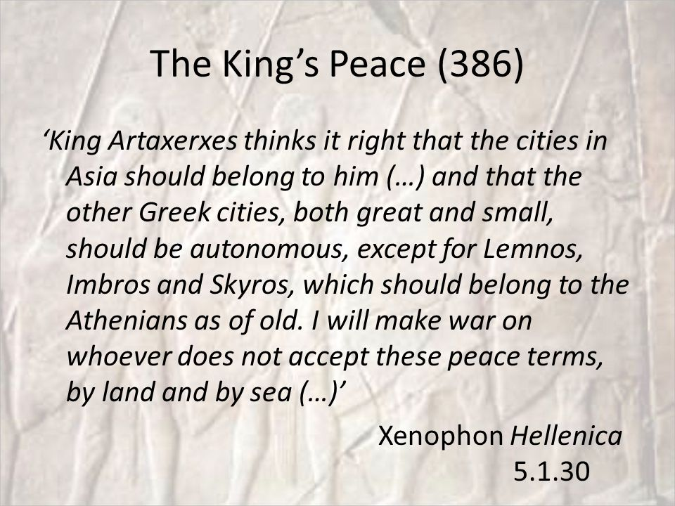 The King's Peace (386)