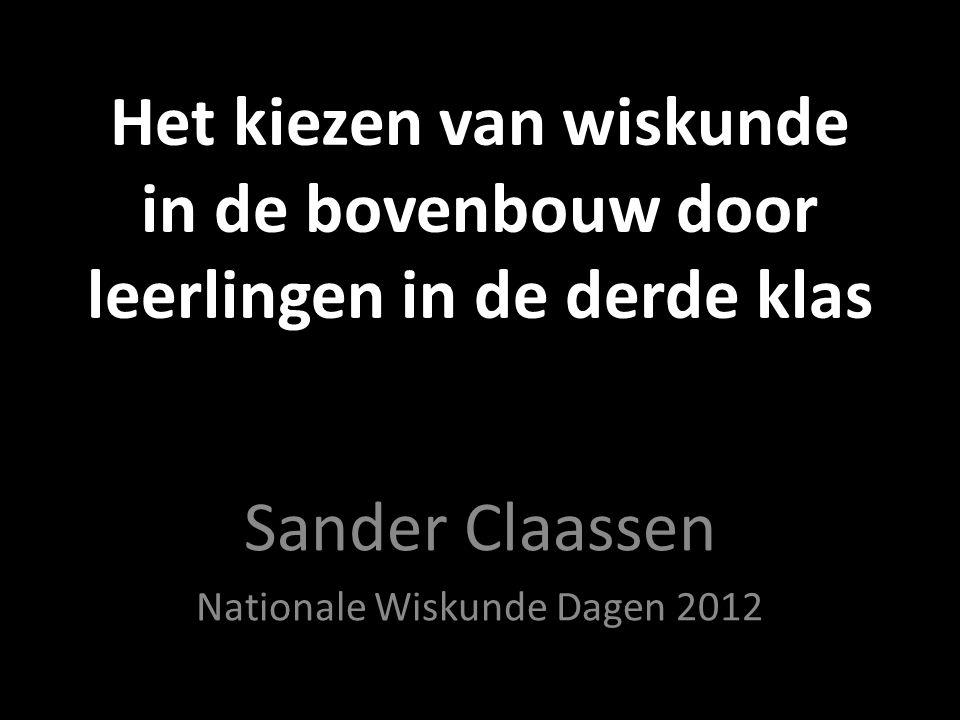 Sander Claassen Nationale Wiskunde Dagen 2012