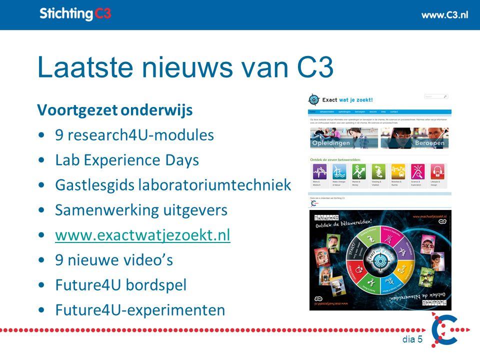 Laatste nieuws van C3 Voortgezet onderwijs 9 research4U-modules